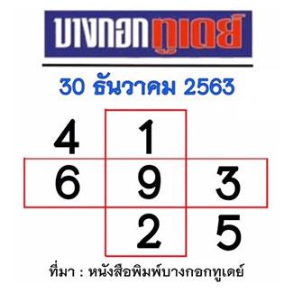 หวยบางกอกทูเดย์ 30/12/63